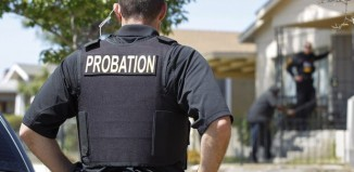 male probation officer in the street
