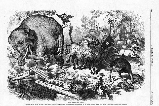 """The Third-Term Panic"" by Thomas Nast (1874, Harper's Magazine)"