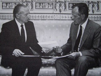 Ambassador Harry Schwarz with George H. W. Bush