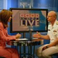 News Anchor Karen Mayers speaking with Paul Sullivan on Good Morning Live