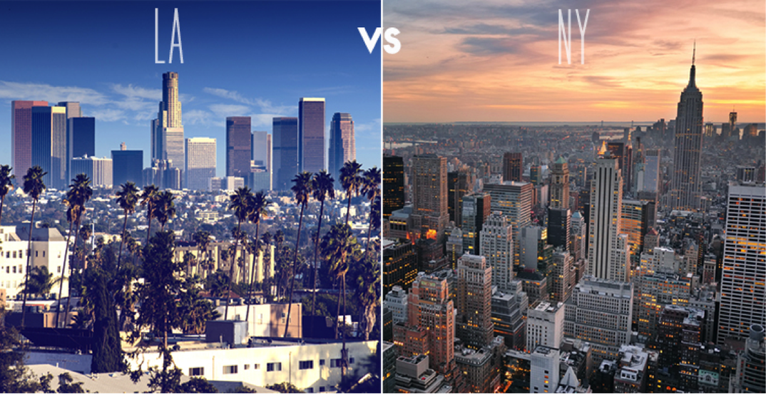 the battle of the coasts  new york city vs los angeles