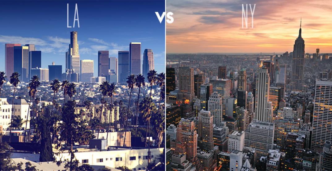 The battle of the coasts new york city vs los angeles for New york city to los angeles
