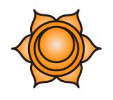 the splenic chakra or sacral chakra symbol