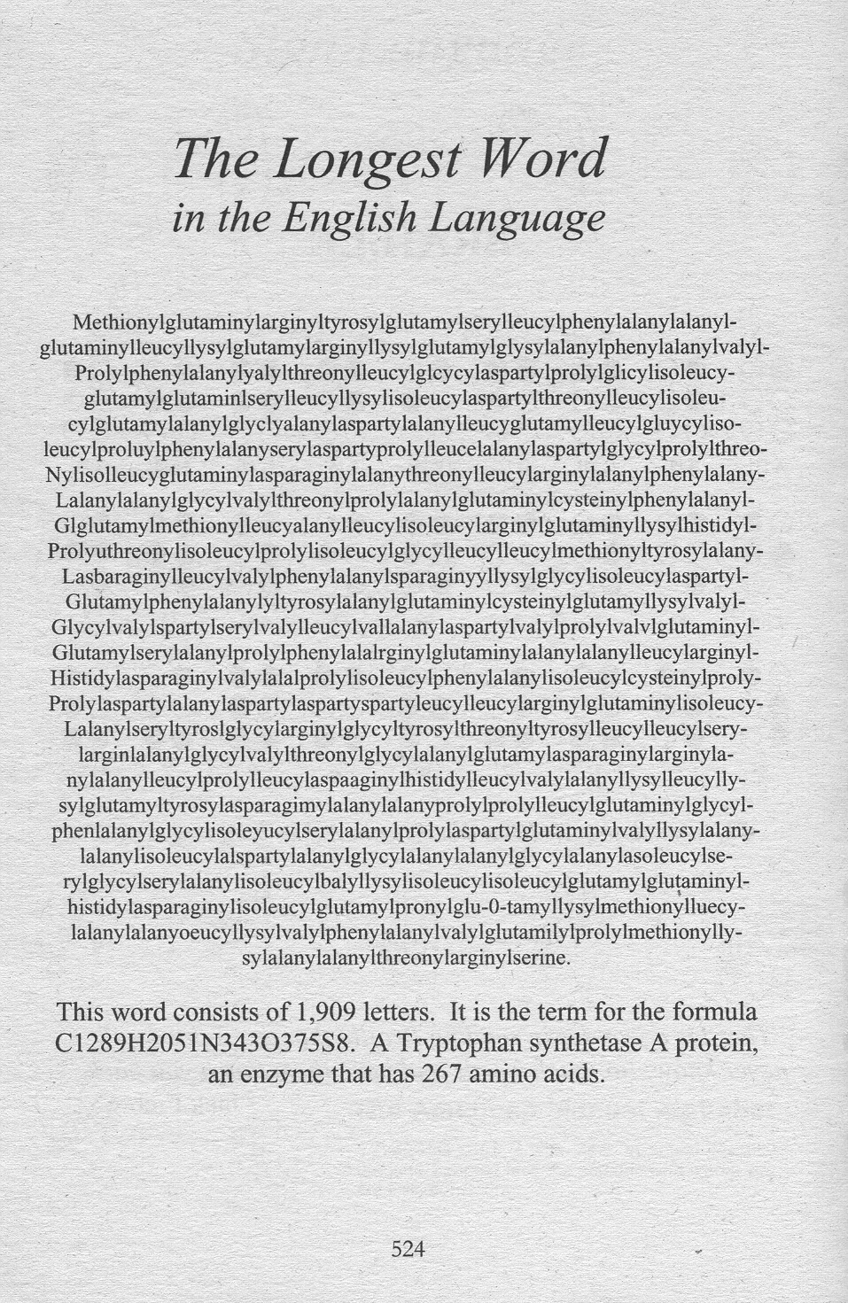 what is the longest word in the English language