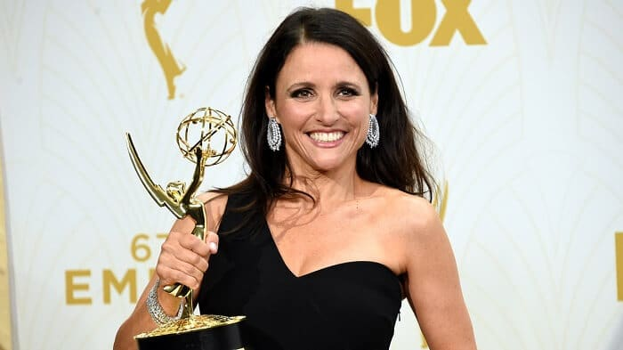 Julia Dreyfus at the Emmys