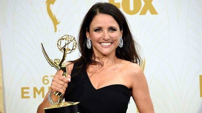 Julia Dreyfus at the Emmys