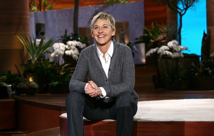ellen degeneres on the set of her TV show