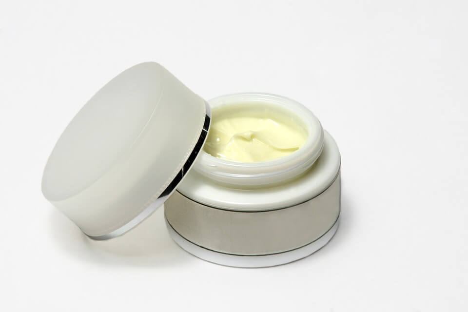 Generic white jar face cream