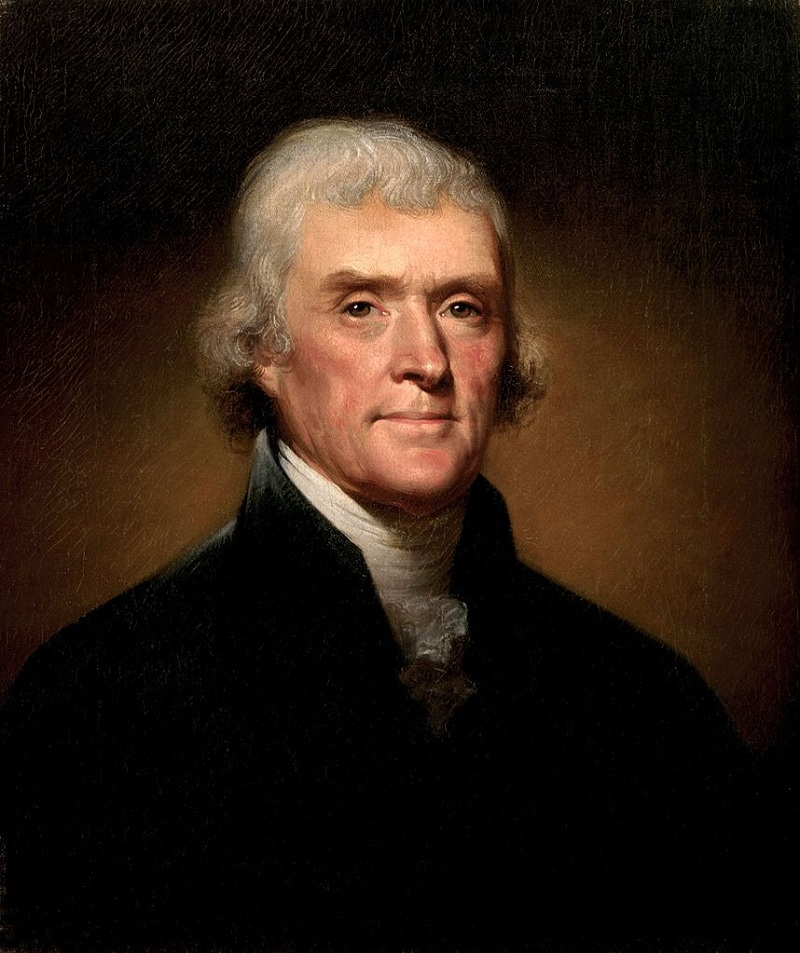 What did thomas jefferson do portrait of jefferson