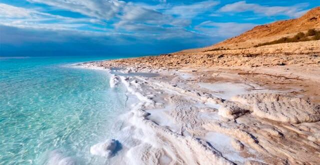 sea shore full of salt
