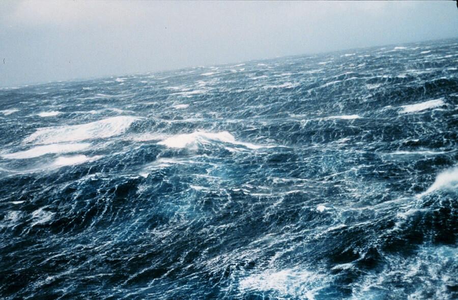 rain falling in the ocean