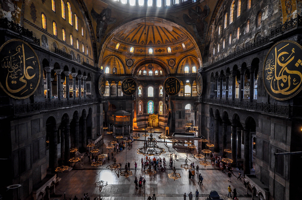 Central nave of Hagia Sophia that Shows the movement from Religion to Secularization towards the discussion of Psychology vs. Sociology